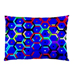 Blue Bee Hive Pattern Pillow Case