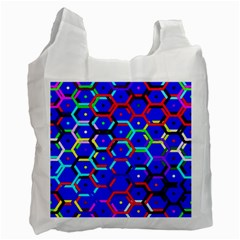Blue Bee Hive Pattern Recycle Bag (one Side)