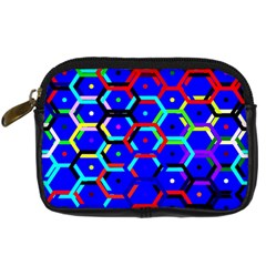 Blue Bee Hive Pattern Digital Camera Cases