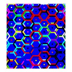 Blue Bee Hive Pattern Shower Curtain 66  X 72  (large)
