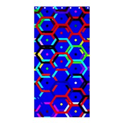 Blue Bee Hive Pattern Shower Curtain 36  X 72  (stall)