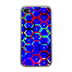 Blue Bee Hive Pattern Apple Iphone 4 Case (clear)