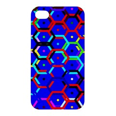 Blue Bee Hive Pattern Apple Iphone 4/4s Hardshell Case