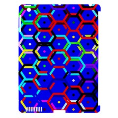 Blue Bee Hive Pattern Apple Ipad 3/4 Hardshell Case (compatible With Smart Cover)