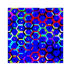 Blue Bee Hive Pattern Acrylic Tangram Puzzle (6  X 6 )