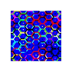 Blue Bee Hive Pattern Acrylic Tangram Puzzle (4  X 4 )