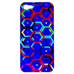 Blue Bee Hive Pattern Apple Iphone 5 Hardshell Case
