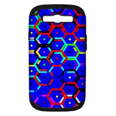 Blue Bee Hive Pattern Samsung Galaxy S Iii Hardshell Case (pc+silicone)