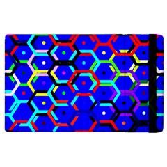 Blue Bee Hive Pattern Apple iPad 3/4 Flip Case