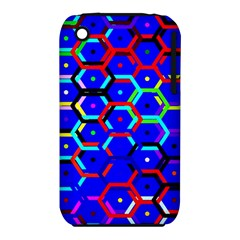 Blue Bee Hive Pattern Iphone 3s/3gs