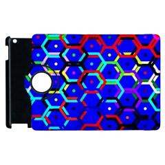 Blue Bee Hive Pattern Apple Ipad 2 Flip 360 Case