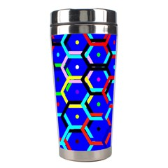 Blue Bee Hive Pattern Stainless Steel Travel Tumblers