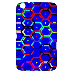 Blue Bee Hive Pattern Samsung Galaxy Tab 3 (8 ) T3100 Hardshell Case