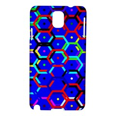 Blue Bee Hive Pattern Samsung Galaxy Note 3 N9005 Hardshell Case