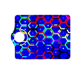 Blue Bee Hive Pattern Kindle Fire Hd (2013) Flip 360 Case