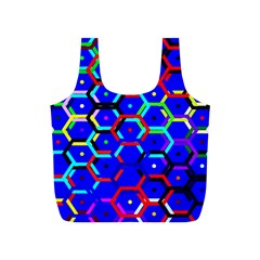 Blue Bee Hive Pattern Full Print Recycle Bags (s)