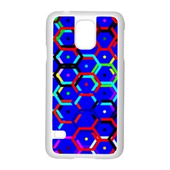 Blue Bee Hive Pattern Samsung Galaxy S5 Case (white)