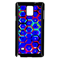 Blue Bee Hive Pattern Samsung Galaxy Note 4 Case (black)