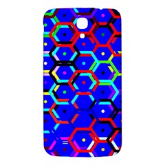 Blue Bee Hive Pattern Samsung Galaxy Mega I9200 Hardshell Back Case