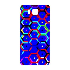 Blue Bee Hive Pattern Samsung Galaxy Alpha Hardshell Back Case