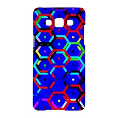 Blue Bee Hive Pattern Samsung Galaxy A5 Hardshell Case
