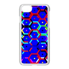 Blue Bee Hive Pattern Apple Iphone 7 Seamless Case (white)