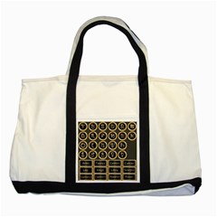 Black And Gold Buttons And Bars Depicting The Signs Of The Astrology Symbols Two Tone Tote Bag