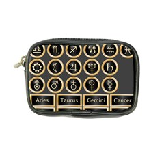 Black And Gold Buttons And Bars Depicting The Signs Of The Astrology Symbols Coin Purse