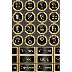 Black And Gold Buttons And Bars Depicting The Signs Of The Astrology Symbols 5 5  X 8 5  Notebooks