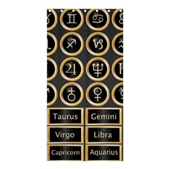 Black And Gold Buttons And Bars Depicting The Signs Of The Astrology Symbols Shower Curtain 36  X 72  (stall)