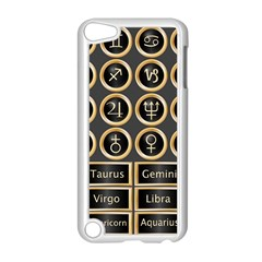 Black And Gold Buttons And Bars Depicting The Signs Of The Astrology Symbols Apple Ipod Touch 5 Case (white)