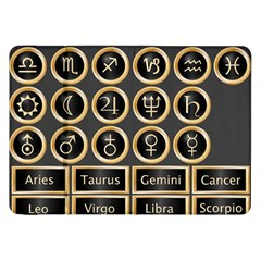 Black And Gold Buttons And Bars Depicting The Signs Of The Astrology Symbols Samsung Galaxy Tab 8 9  P7300 Flip Case