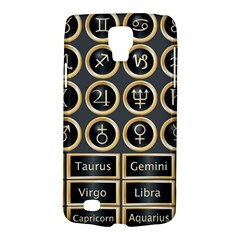 Black And Gold Buttons And Bars Depicting The Signs Of The Astrology Symbols Galaxy S4 Active