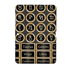 Black And Gold Buttons And Bars Depicting The Signs Of The Astrology Symbols Samsung Galaxy Tab 2 (10 1 ) P5100 Hardshell Case