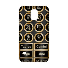 Black And Gold Buttons And Bars Depicting The Signs Of The Astrology Symbols Samsung Galaxy S5 Hardshell Case