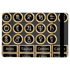 Black And Gold Buttons And Bars Depicting The Signs Of The Astrology Symbols Ipad Air Flip
