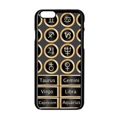 Black And Gold Buttons And Bars Depicting The Signs Of The Astrology Symbols Apple Iphone 6/6s Black Enamel Case