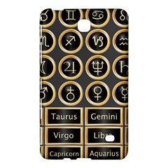 Black And Gold Buttons And Bars Depicting The Signs Of The Astrology Symbols Samsung Galaxy Tab 4 (7 ) Hardshell Case