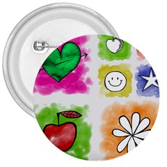 A Set Of Watercolour Icons 3  Buttons