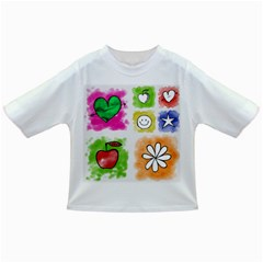 A Set Of Watercolour Icons Infant/toddler T Shirts