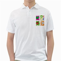 A Set Of Watercolour Icons Golf Shirts