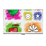 A Set Of Watercolour Icons Business Card Holders Front