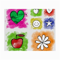 A Set Of Watercolour Icons Small Glasses Cloth (2 Side)