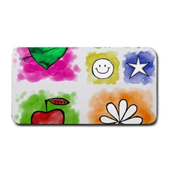 A Set Of Watercolour Icons Medium Bar Mats