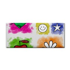 A Set Of Watercolour Icons Cosmetic Storage Cases