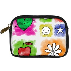 A Set Of Watercolour Icons Digital Camera Cases