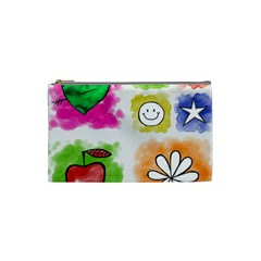 A Set Of Watercolour Icons Cosmetic Bag (small)