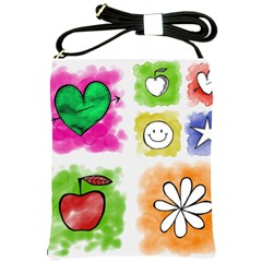 A Set Of Watercolour Icons Shoulder Sling Bags