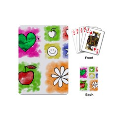 A Set Of Watercolour Icons Playing Cards (mini)