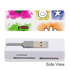A Set Of Watercolour Icons Memory Card Reader (stick)